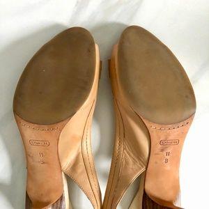 Coach Shoes - Coach Miranda Nude Slingback Heels with Buckle
